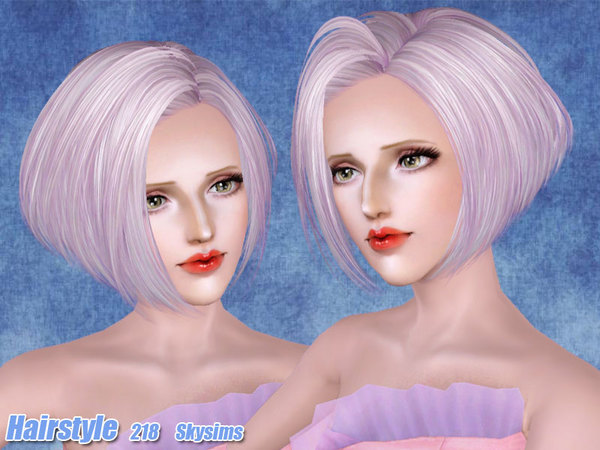 Voluminous bob hairstyle 218 by Skysims for Sims 3
