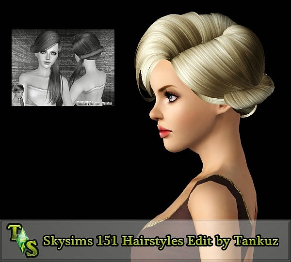 Skysims 151 Hairstyles Edit by Tankuz for Sims 3