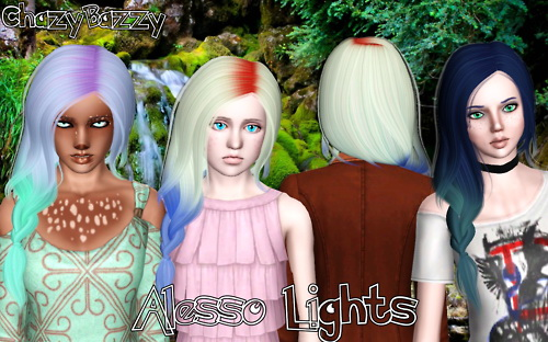 Alesso`s Lights hairstyle retextured by Chazy Bazzy for Sims 3