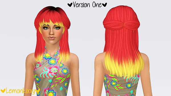 Newsea`s Voyage hairstyle retextured by Pocket for Sims 3