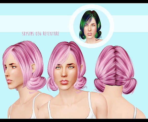 Skysims 36 hairstyle retextured by Kitt for Sims 3