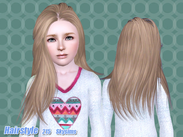 Thin hairstyle 215 by Skysims for Sims 3