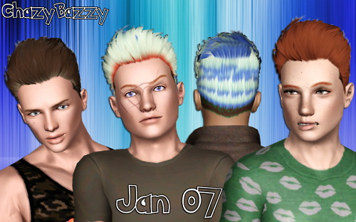 Jan hairstyle 07 retextured by Chazy Bazzy for Sims 3