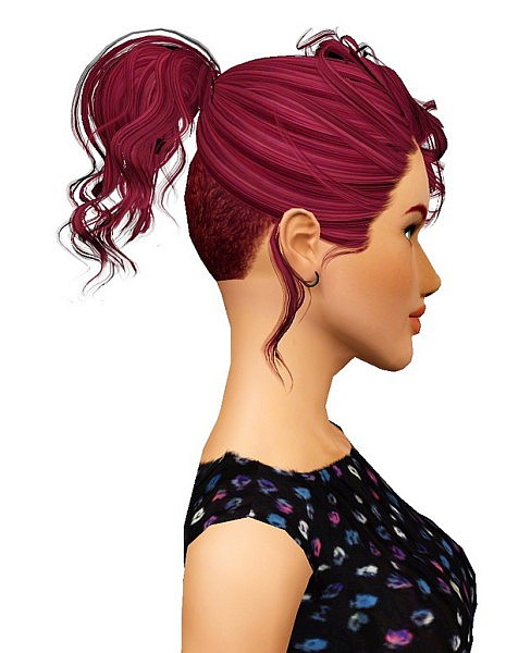 Disco Buzz/Cova hairstyle retextured by Pocket for Sims 3