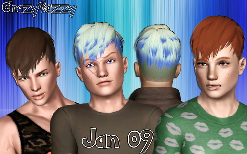 Jan 09 hairstyle retextured by Chazy Bazzy for Sims 3