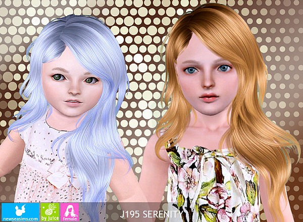 childrens haircuts pictures newsea s j195 serenity hairstyle by juice sims 3 hairs 5110 | 5110 600x440