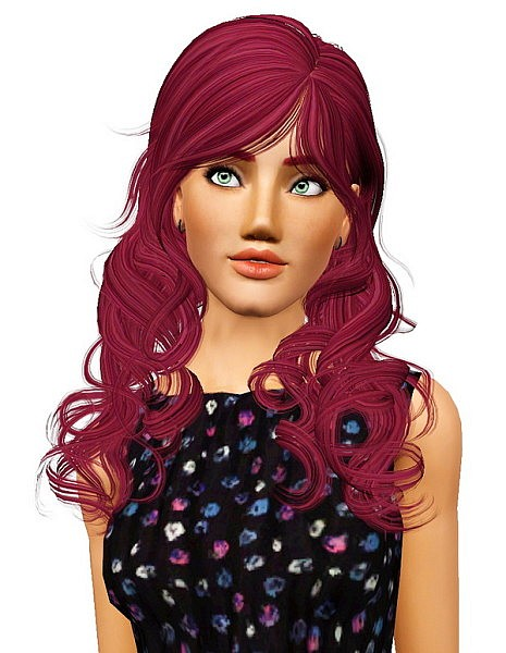 Newsea's Azure Sky hairstyle retextured by Pocket for Sims 3