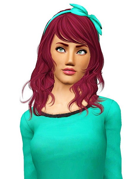 Newsea's Eyes On Me hairstyle retextured by Pocket for Sims 3