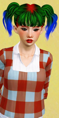 Newsea`s Pigtail Mashup by Beaverhausen for Sims 3