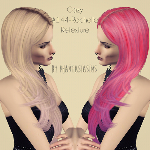 Cazy`s 144 Rochelle hairstyle retextured by Phantasia for Sims 3