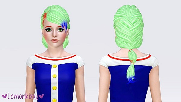 Skysims 175 hairstyle retextured by Lemonkixxy for Sims 3