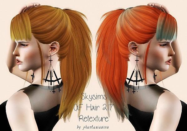 Skysims 217 hairstyle retextured by Phantasia for Sims 3