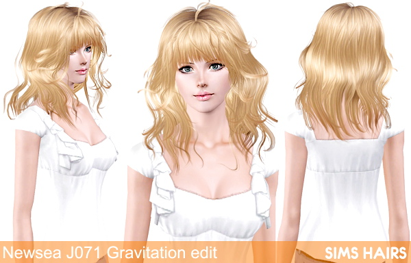 Newsea J071 Gravitation retextured by Sims Hairs for Sims 3