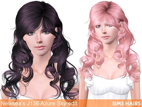 Newsea's J136 Azure Sky AF retexture by Sims Hairs