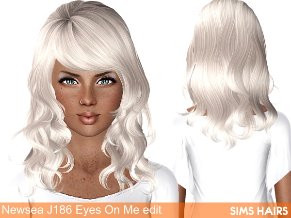 Newsea's J186 Eyes On Me hairstyle retexture by Sims Hairs for Sims 3