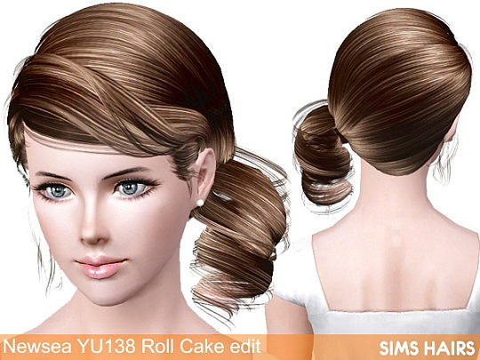 Newsea's YU138 Cake Roll AF retexture by Sims Hairs