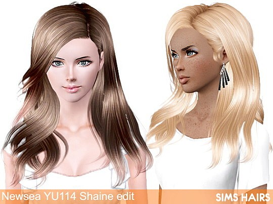 Newsea YU114 Shaine AF retexture by Sims Hairs