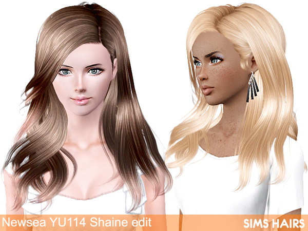 Newsea YU114 Shaine AF retexture by Sims Hairs for Sims 3