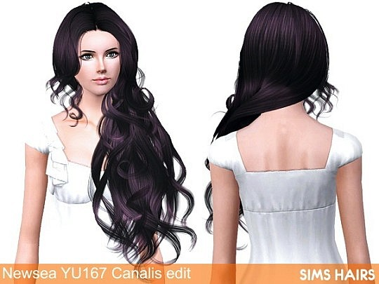 Newsea's YU167 Canalis hairstyle AF retexture by Sims Hairs
