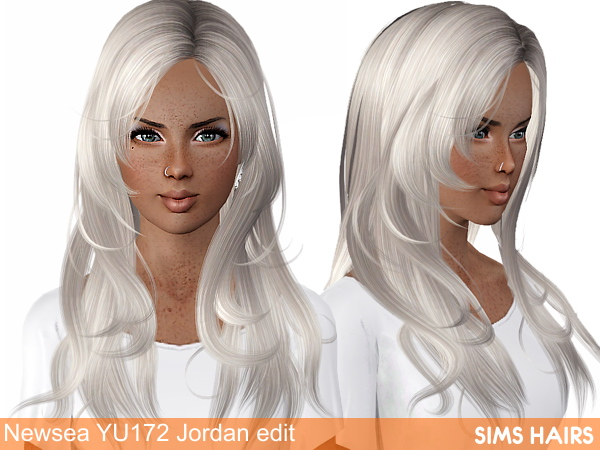 Newsea's YU172 Jordan hairstyle retexture by Sims Hairs for Sims 3