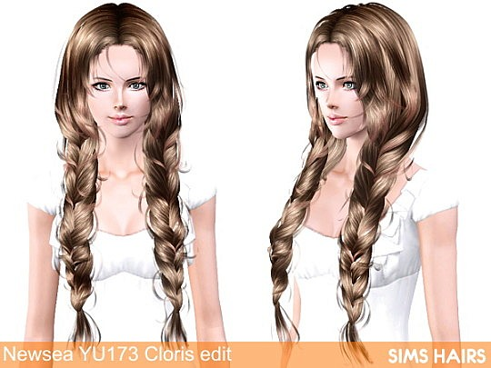 Newsea YU173 Cloris AF retexture by Sims Hairs