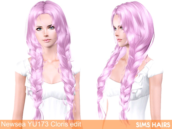 Newsea YU173 Cloris AF retexture by Sims Hairs for Sims 3