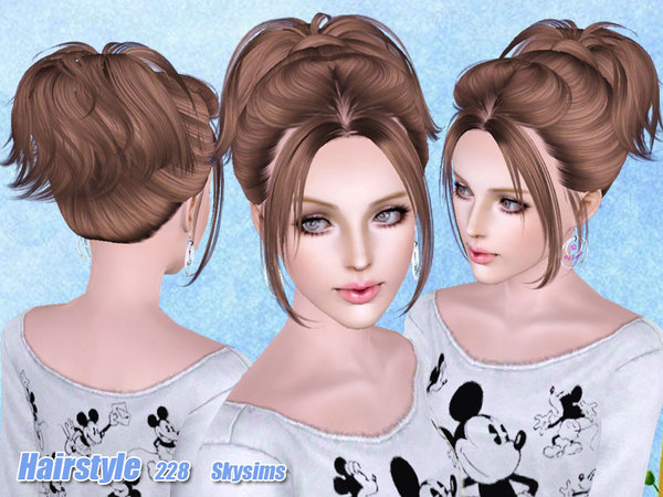 Small ponytail hairstyle 228 by Skysims for Sims 3