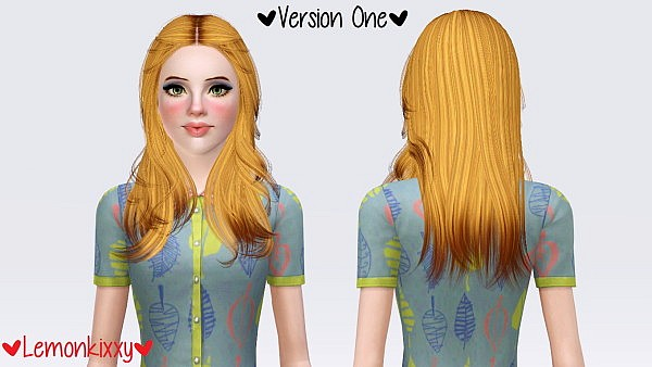 Skysims 001 hairstyle retextured by Lemonkixxy for Sims 3