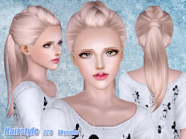 soccer hairstyles for girls : Half braided ponytail hairstyle 223 by Skysims - Sims 3 Hairs