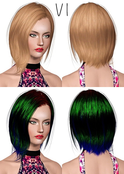 Newsea`s Perry hairstyle retextured by Chantel for Sims 3