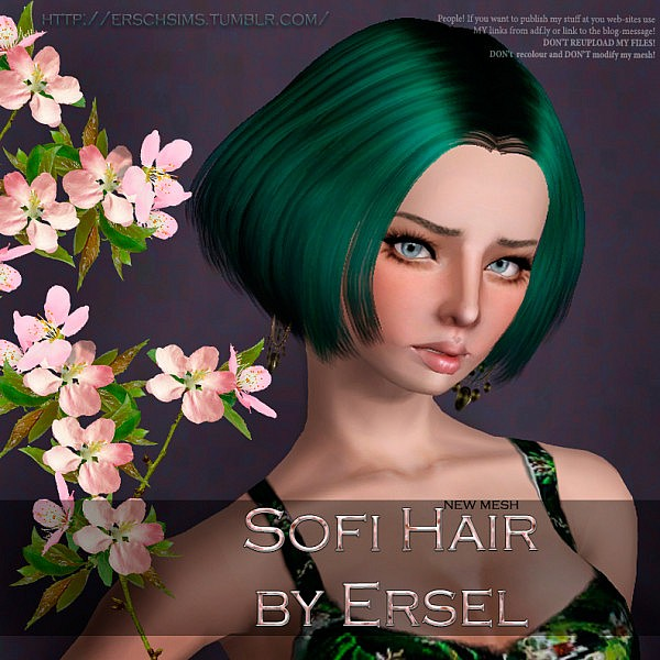 Sofi layered bob hairstyle by ErSch for Sims 3