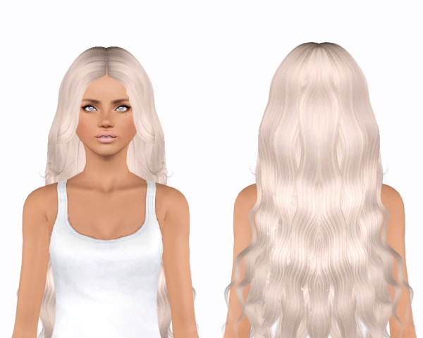 Alesso`s Hourglass hairstyle retextured by Plumblobs for Sims 3