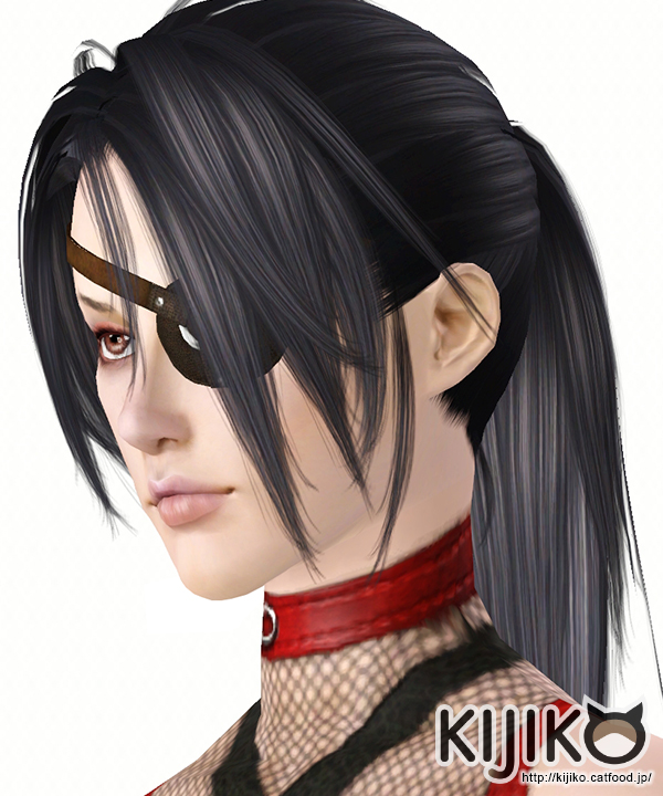 Tsugumi fringed ponytail hairstyle for her by Kijiko for Sims 3