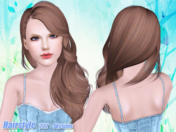 In a side Hairstyle 222 by Skysims for Sims 3