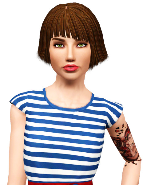 Elexis Quorra hairstyle retextured by Pocket for Sims 3