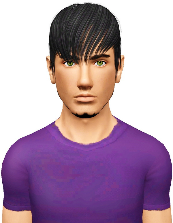 medium hair style with bangs coolsims s 102 hairstyle retextured by pocket sims 3 hairs 2661