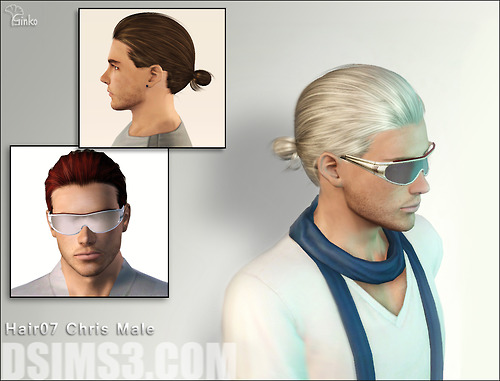 Ginko hairstyle for him by Daisy for Sims 3