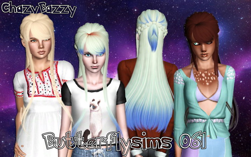 Butterflysims 061 hairstyle retextured by Chazy Bazzy for Sims 3