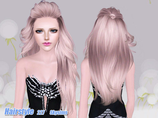 Nice Hairstyle 227 by Skysims for Sims 3