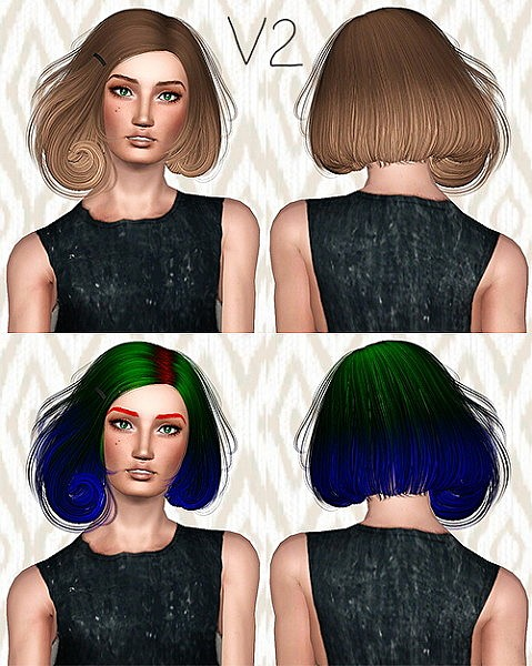 Sintiklia Scarlet hairstyle retextured by Chantel for Sims 3