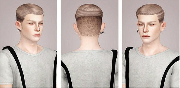 Nightcrawler M07 hairstyle retextured by Liahx for Sims 3