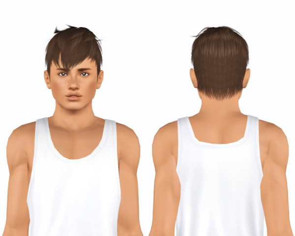 Kijiko`s 16 Panda Kang and 17 Faux Hawk hairstyle retextured by Plumblob for Sims 3