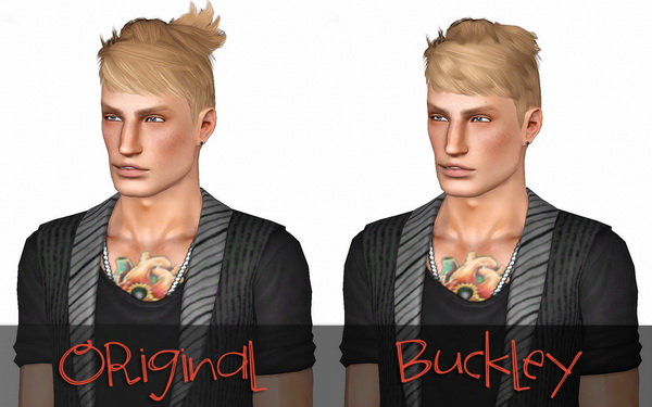 Flyaway hairstyle retextured by Buckley for Sims 3