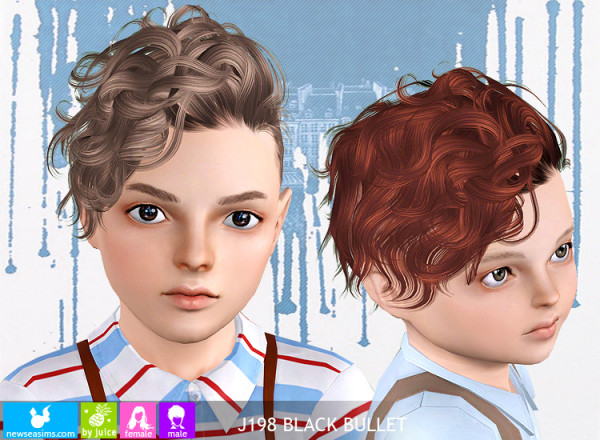 childrens haircuts pictures j198 black bullet curly side hairstyle by newsea sims 3 5110 | 5110 600x440