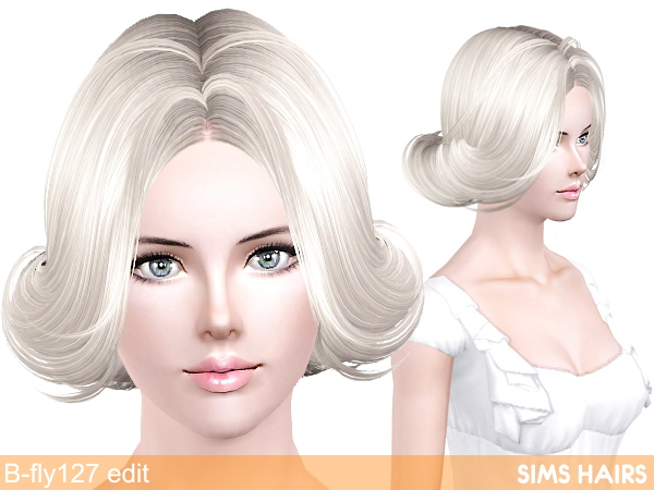 B flys 127 hairstyle retextured by Sims Hairs for Sims 3