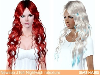 Newsea J164 Nightwish hairstyle retexture by Sims Hairs - 1