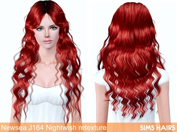 Newsea's J164 Nightwish retexture by Sims Hairs for Sims 3
