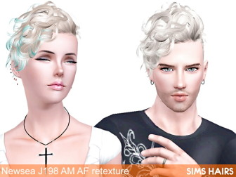 Newsea-J198-Black-Bullet-AF-AM-hairstyle-retextured-by-Sims-Hairs-1