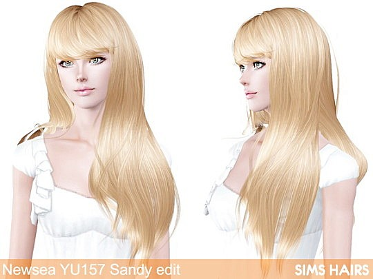 Newsea YU 157 Sandy hairstyle retexture by Sims Hairs