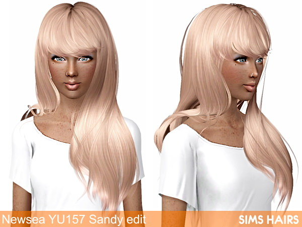 Newsea YU 157 Sandy hairstyle retexture by Sims Hairs for Sims 3